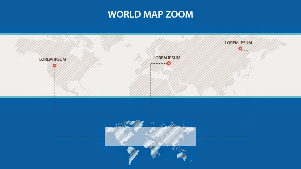 vector powerpoint world map with focused area