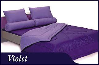 Sprei & Bedcover Shyra Polos - Violet