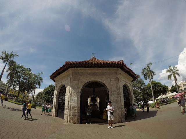Twin city tour in Cebu stop: Magellan's Cross