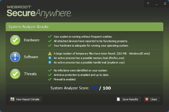 Webroot System Analyzer (Secure Anywhere) 9.0.18.38 | Portable | Herramienta de analisis de vulnerabilidades en Windows