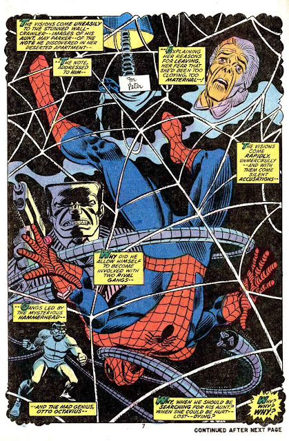 Amazing Spider-Man v1 #114 marvel comic book page art by Jim Starlin, John Romita