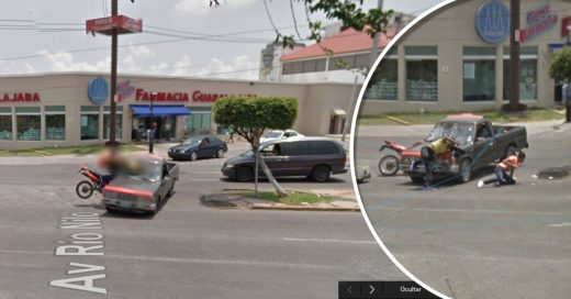 Google Earth capta accidente paso por paso