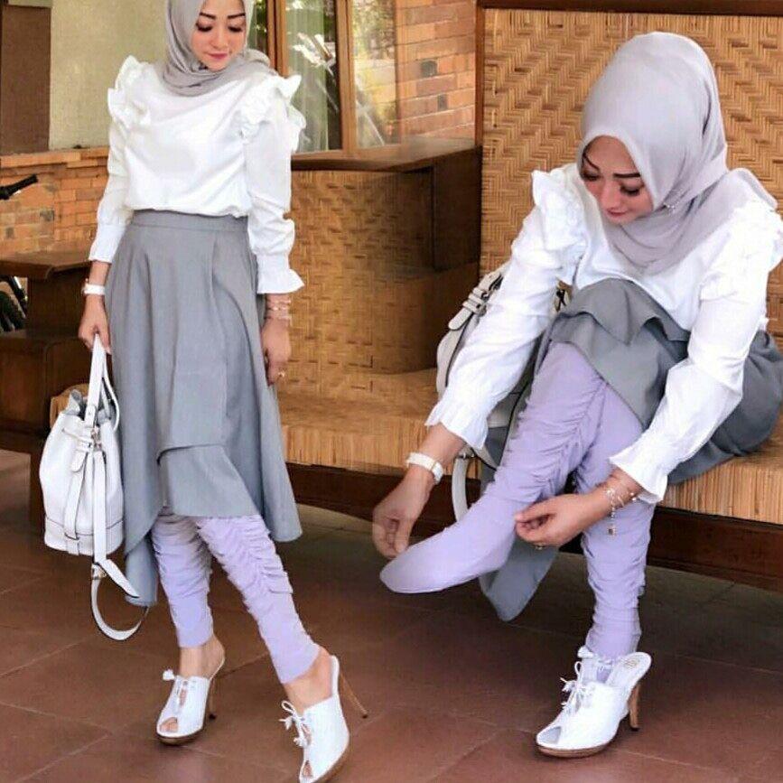 Melody Fashion Legging Wudhu Kerut By Khazana Btari