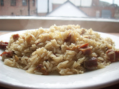 Risotto with Bacon, Cloves & Coriander - Exotic Gluten-Free Meal