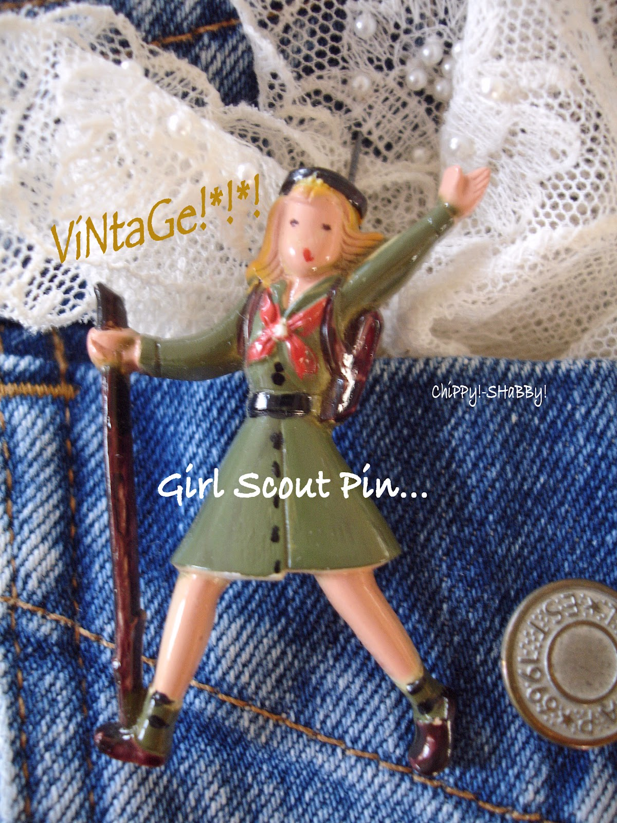 Girl Scout Cookie Nail Art: SHaBBy!: ViNtaGe **Girl Scout Pin/Brooch**