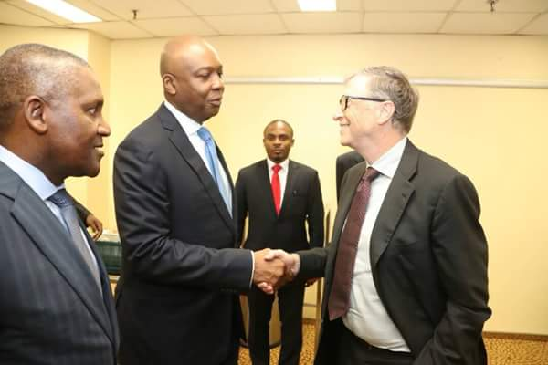 See Billions Of Dollars In Just A Pic;Bill Gates, Dangote And Saraki Pictured Together