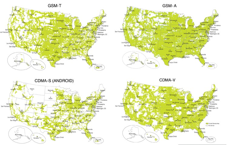 Coverage Maps For All Prepaid Carriers Prepaid Phone News - Att cell map