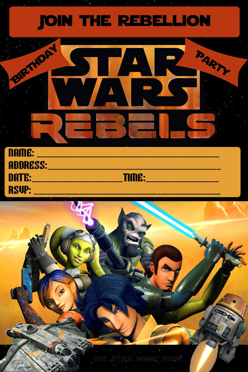 Free Printable - Star Wars Rebels Birthday Party Invitation - The ...