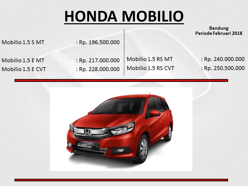 New Honda Mobilio Harga Dan Kredit Cicilan Murah 2018 Mobil Bandung