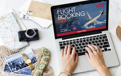 Checking cheap air fare to Iceland on internet