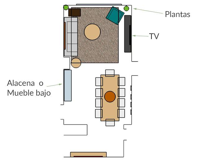 plano distribución salón