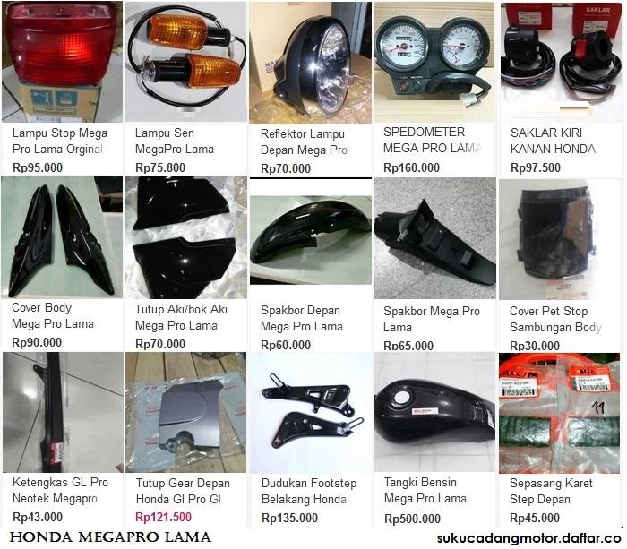 Katalog Suku Cadang Honda Megapro