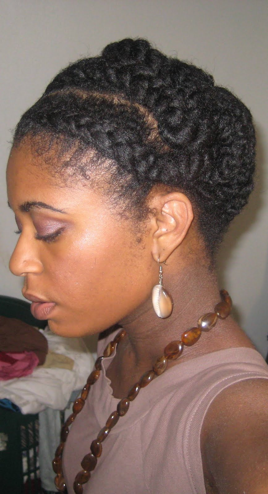 naturally elegant: hair today: large cornrows in front and large