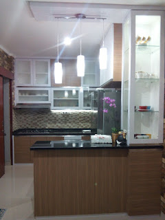 Gambar kitchen set murah model U jakarta selatan