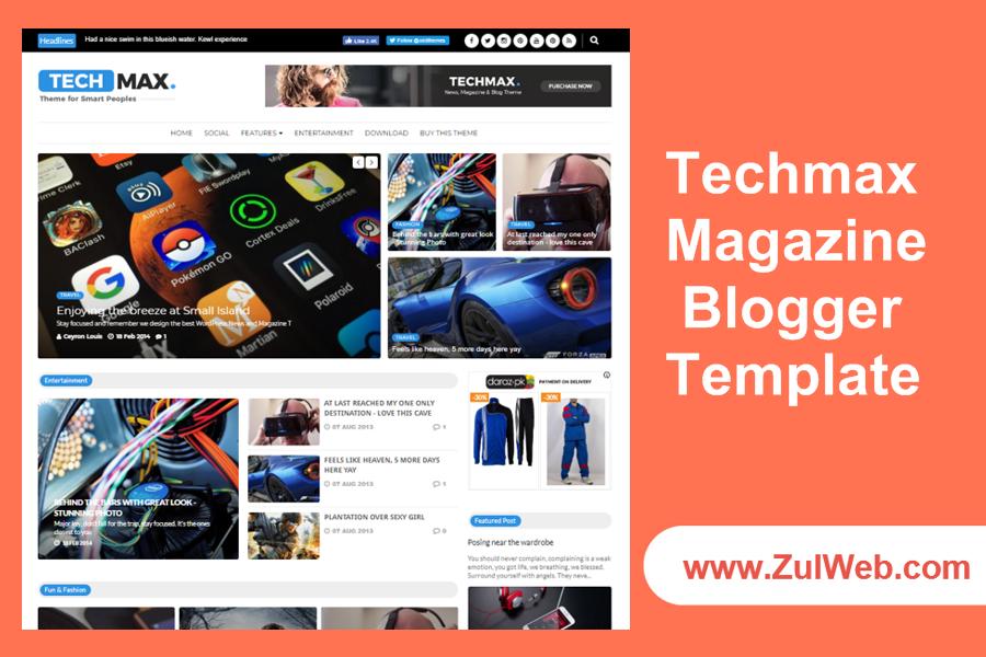 Techmax Magazine Blogger Template