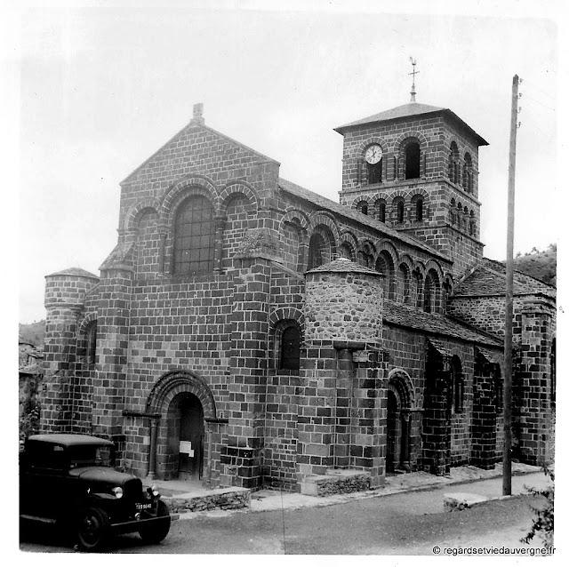 Eglise prieurale romane saint Gilles de Chamalières sur Loire. 1930