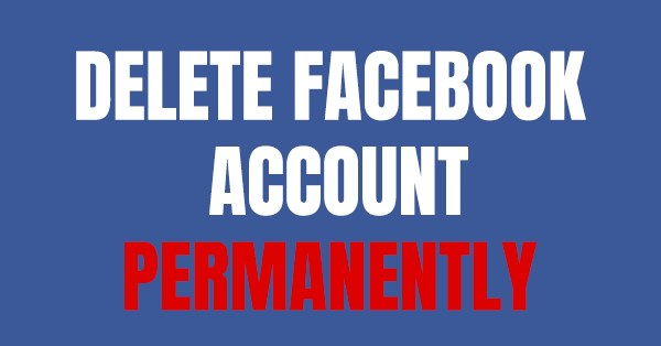 easiest way to delete facebook account