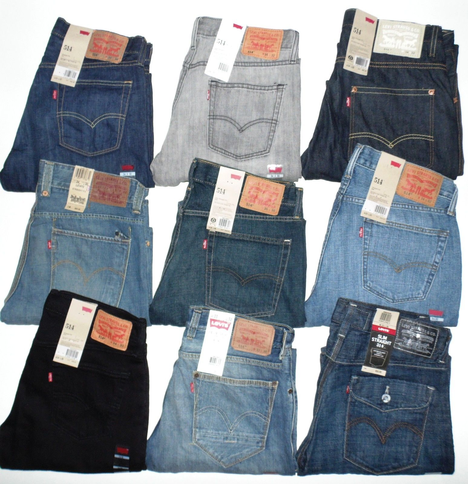 cf80a764bc7 Levis 514 Mens Jeans Slim Fit Straight Leg Many Colors Many Sizes New With  Tags