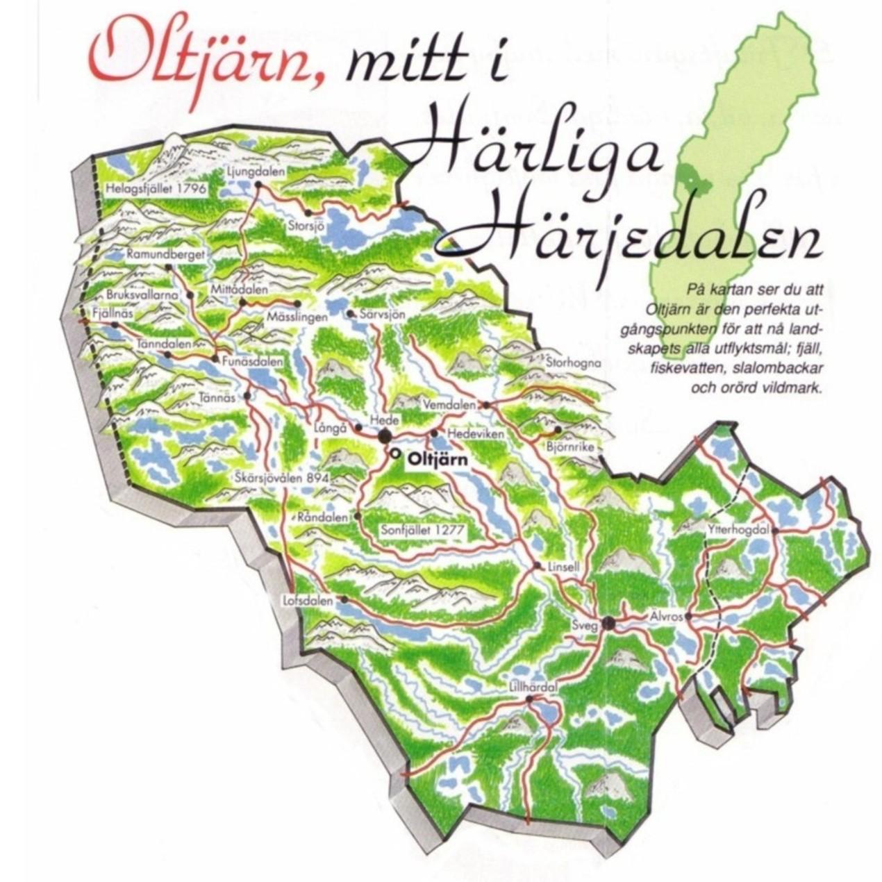 härjedalen karta Karta över Härjedalen Regionen | Karta över Sverige, Geografisk  härjedalen karta