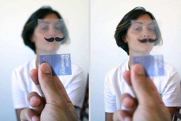 Cartão PVC Transparente Criativo