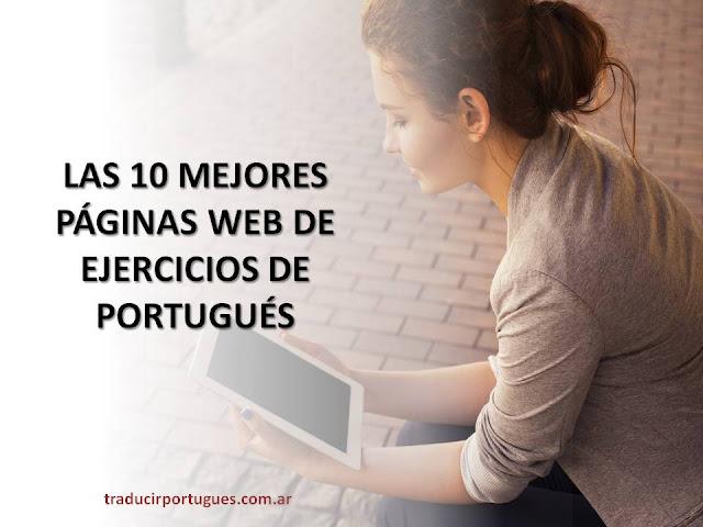 exercícios, portugués, ejercicios, páginas web, website, traducciones, traductora