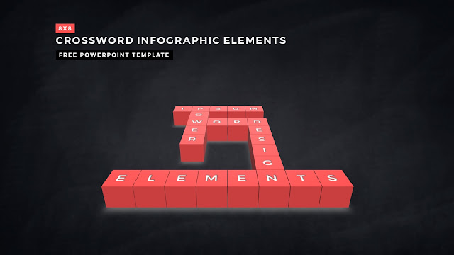 Crossword Puzzles Infographic Elements for PowerPoint Templates with Dark Background Slide 13