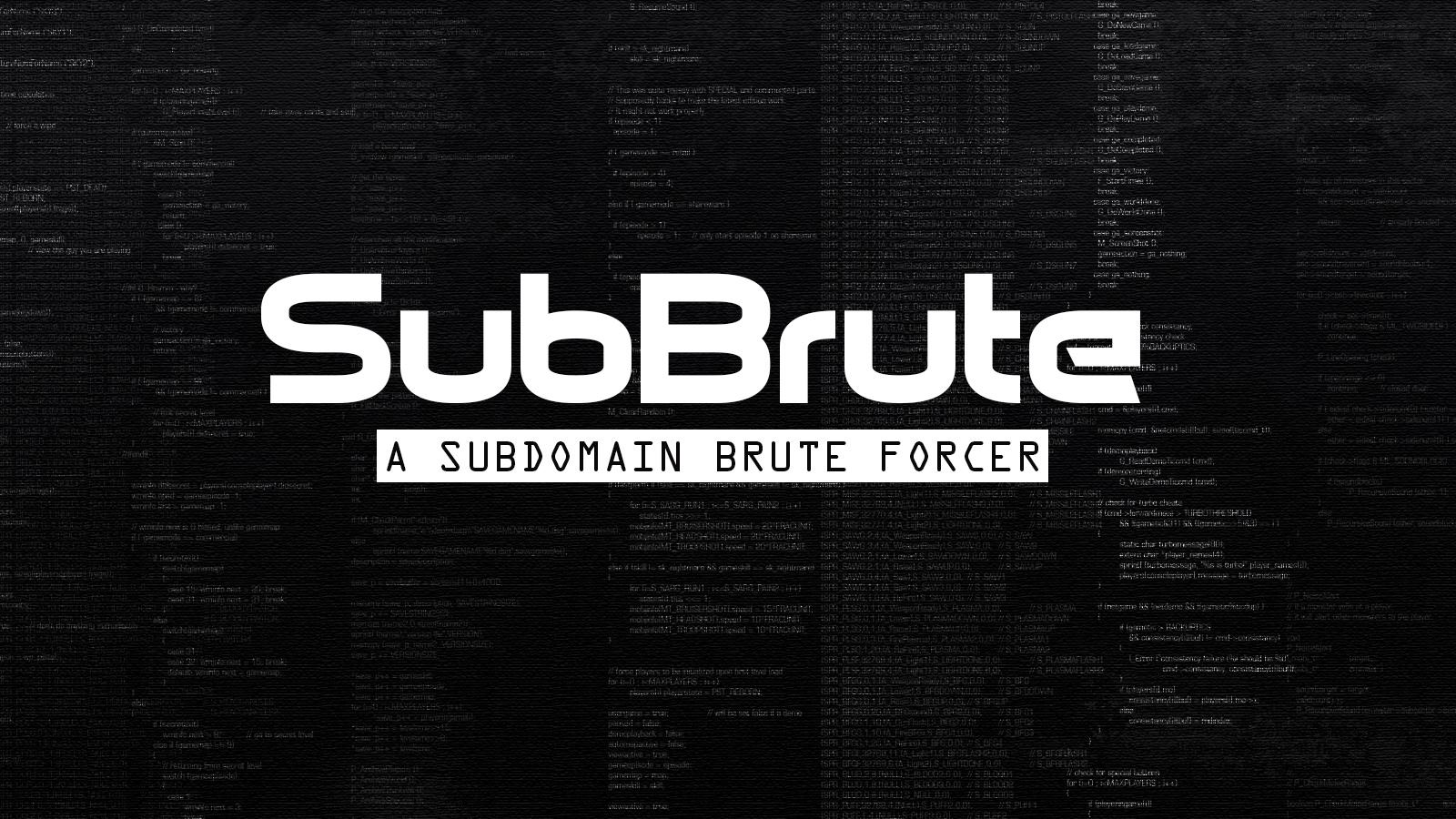 SubBrute - A Subdomain Brute Forcer