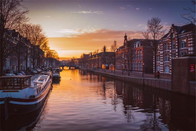 Tramonto ad Amsterdam