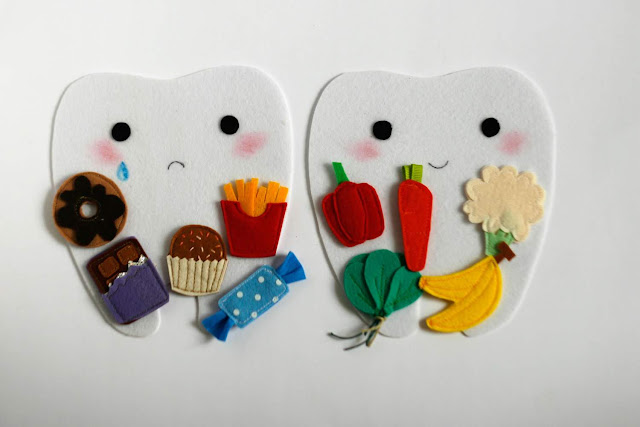 Little Happy tooth Sad tooth - Dental Health educational set handmade by TomToy