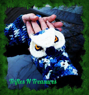 Majestic Owl Mitts by Trifles N Treasures