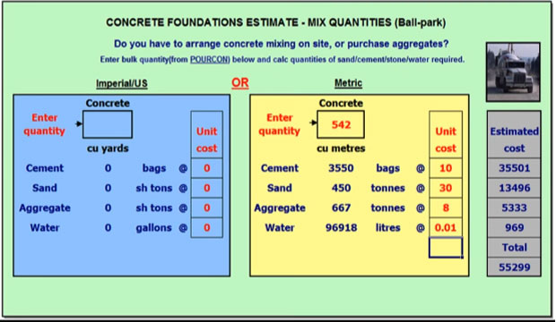 Download Concrete Mix Design EXCEL Calculator