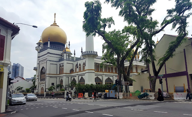 mosque and the street near by