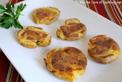 Salt and Vinegar Roasted Smashed Potatoes