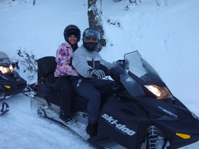 Pilotando snowmobile - Passeio ao El Refugio Arelauquen - Bariloche
