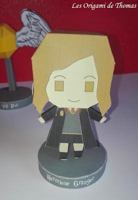 Hermione Granger en papercrat origami