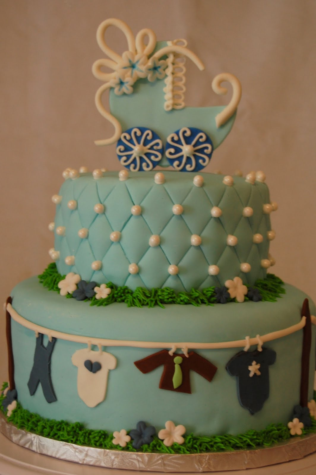 Cakefilley Clothes Line Baby Shower Cake