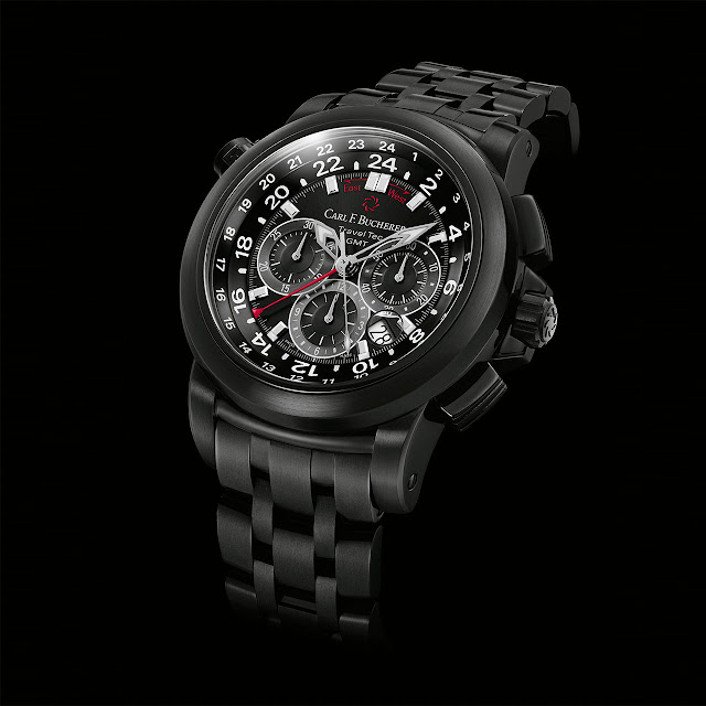 Carl F. Bucherer Patravi TravelTec Black Automatic Watch