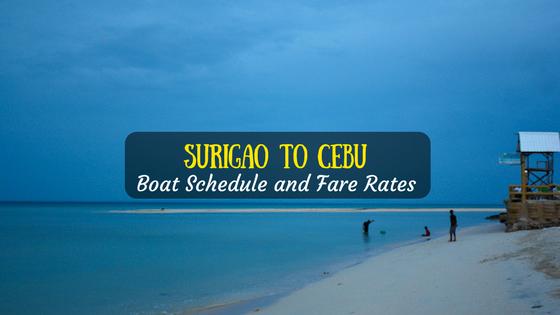 Surigao City to Cebu boat schedule