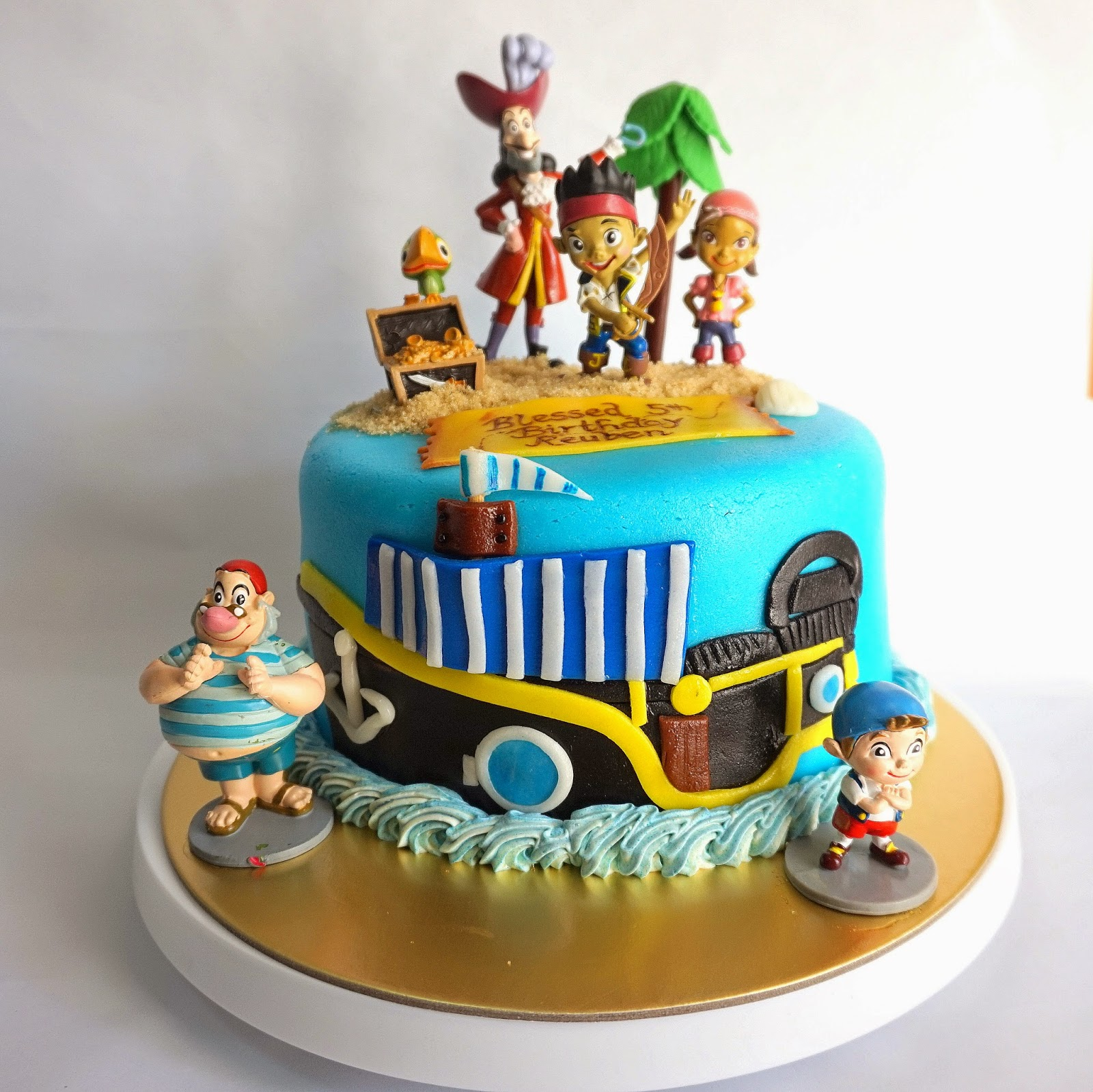 Jack And The Neverland Pirates Themed Cake Sherbakes