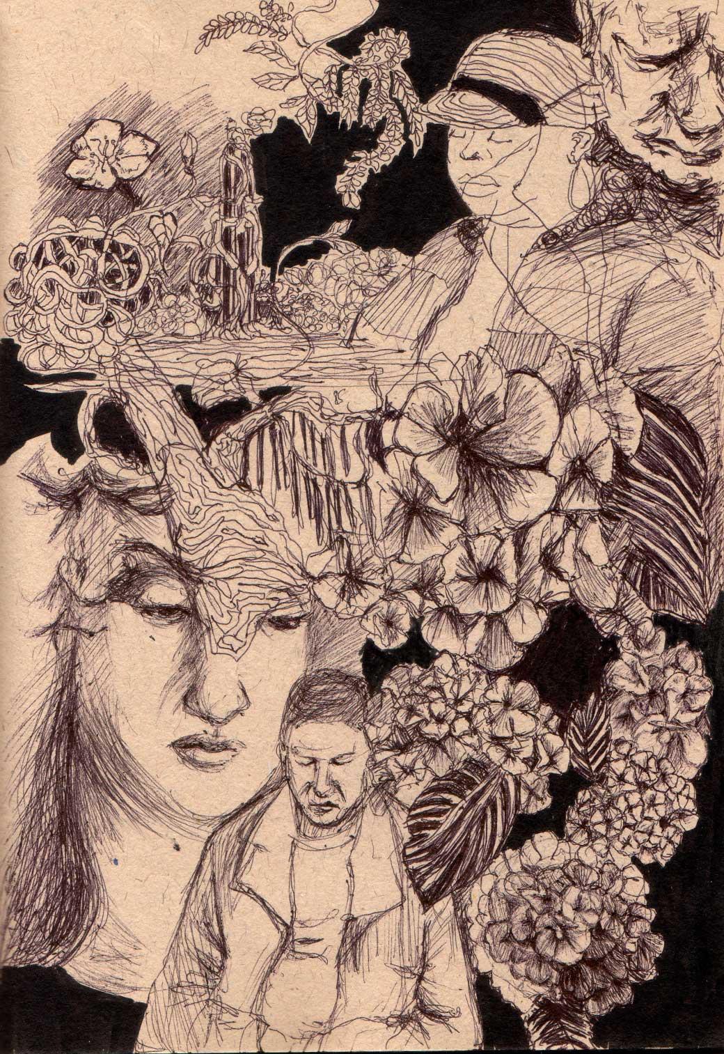 Flowery portraits