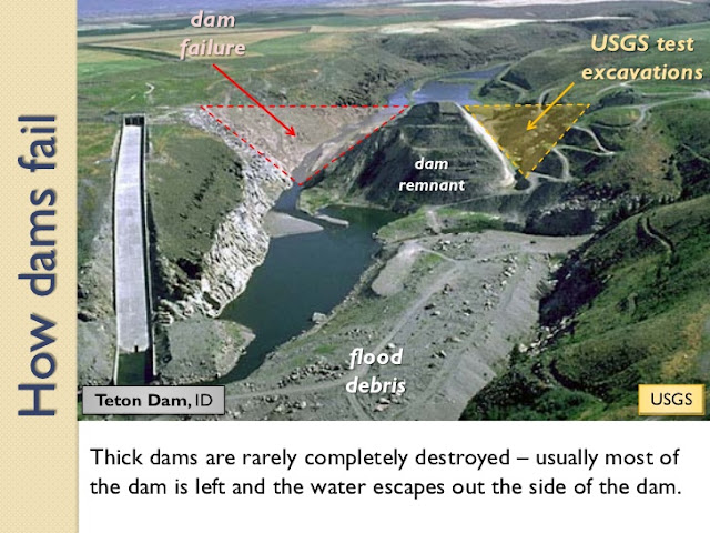 Teton dam Rexburg Idaho flood break hazards USGS