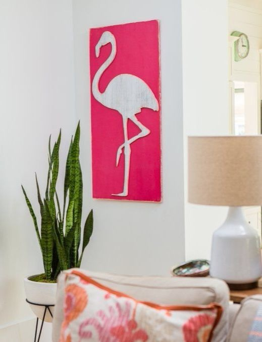 Flamingo Wood Wall Art