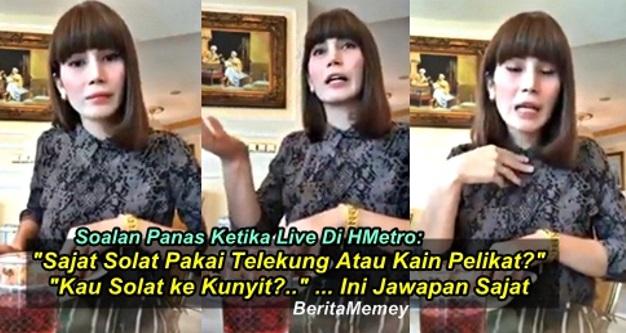 """Soalan Panas """"Sajat Solat Pakai Telekung Atau Kain Pelikat?""""... Ini Jawapan Sajat"""