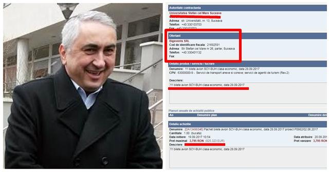Patronii soției rectorului Popa continuă afacerile cu USV, dar pe altă firmă