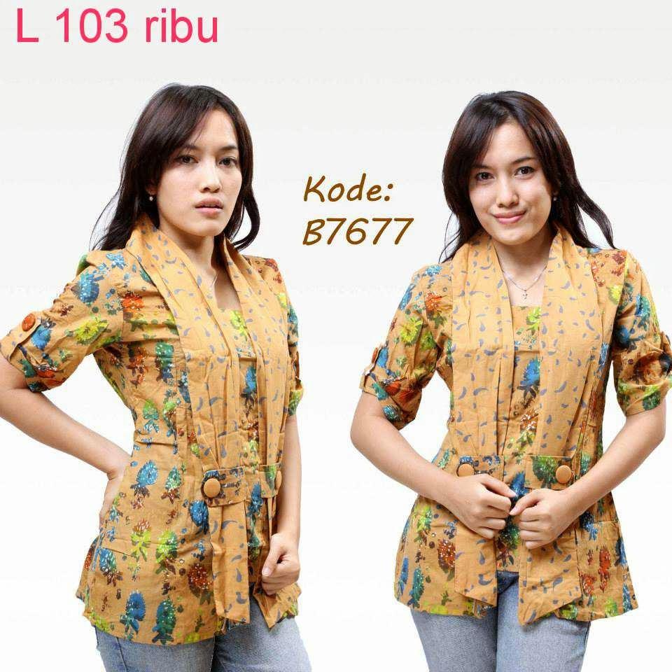 Desainer Baju Batik Wanita: Contoh Model Baju Batik Wanita