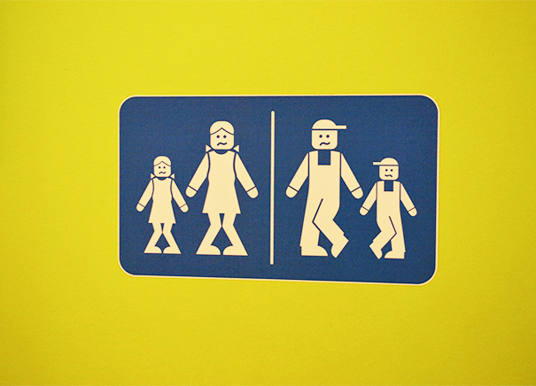 20+ Of The Most Creative Bathroom Signs Ever - Bathroom Signs At Lego Land