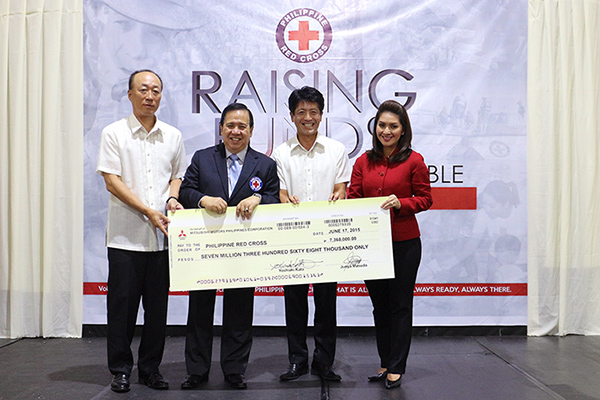 Mitsubishi Motors Philippines turns-over donation to Philippine Red Cross