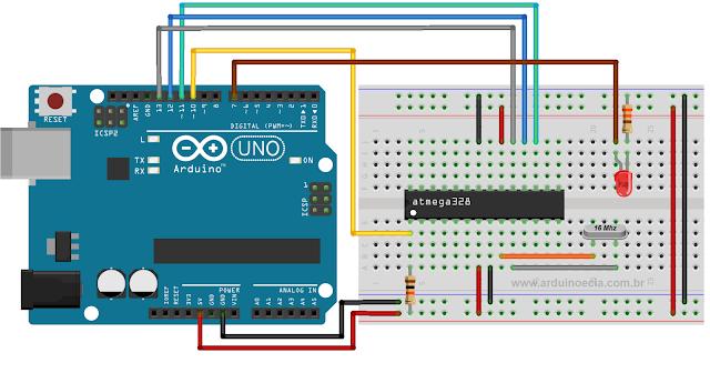 gravar bootloader atmega328 arduino Uno R3