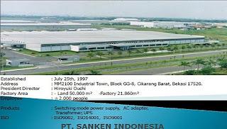 PT. Sanken Indonesia mm2100 cibitung