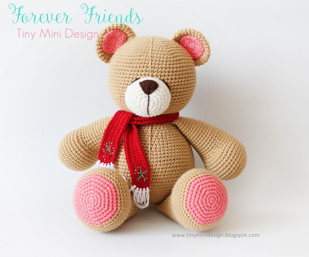Amigurumi Bear Maya : Amigurumi Bear Forever Friends Tiny Mini Design